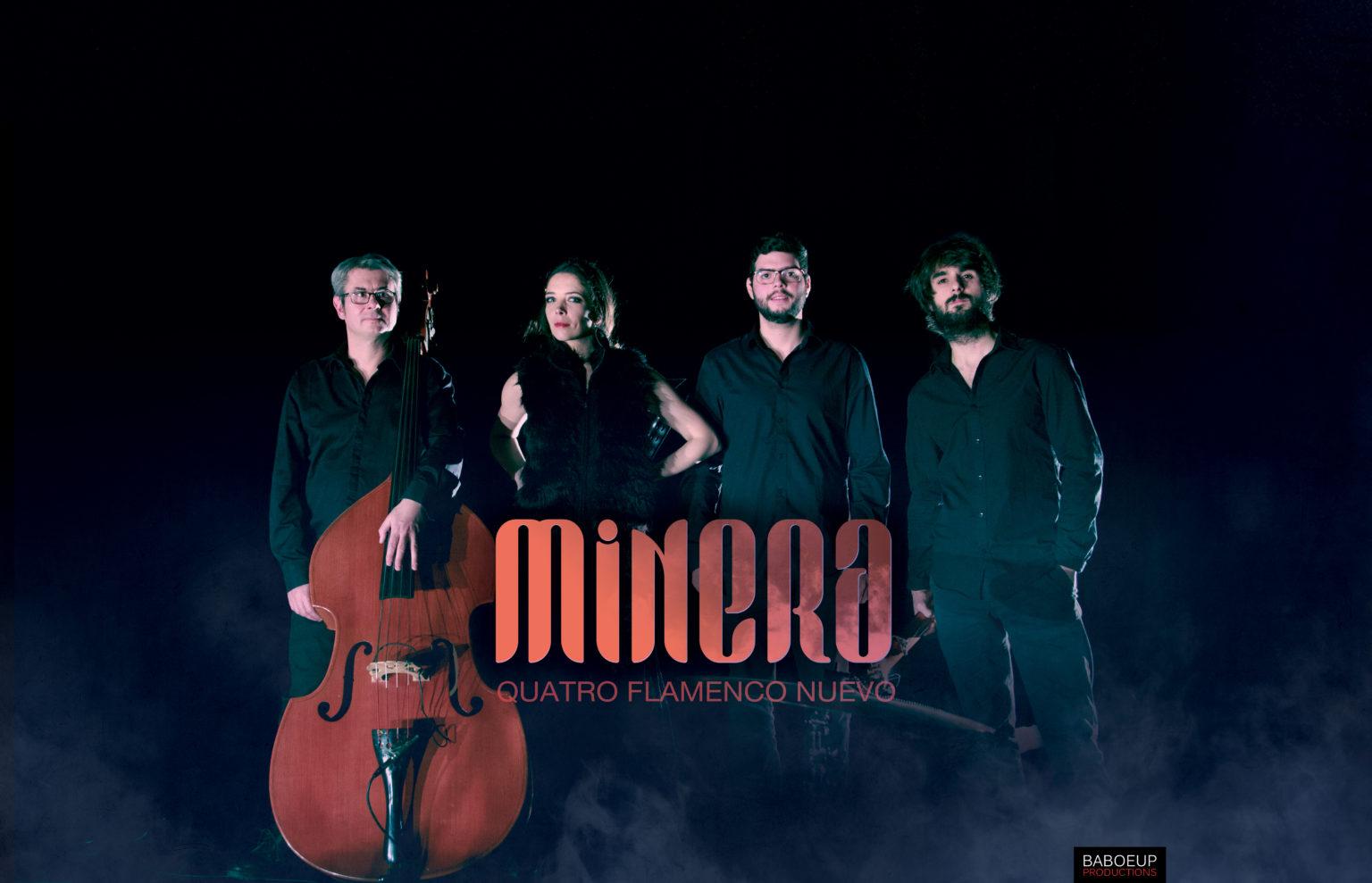 Minera Quartet 2021 - Portrait du groupe - Crédits photos : Alexandre Magi - Lieu : Théâtre d'Elsa - Baboeup Production